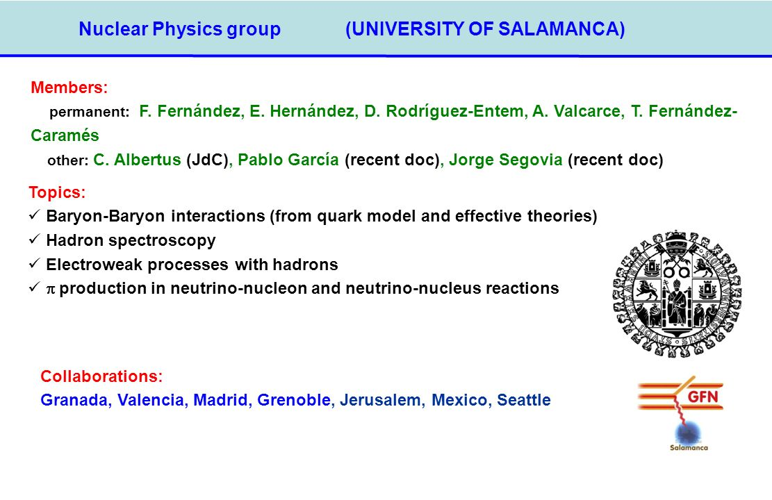 Nuclear Physics group (UNIVERSITY OF SALAMANCA)‏