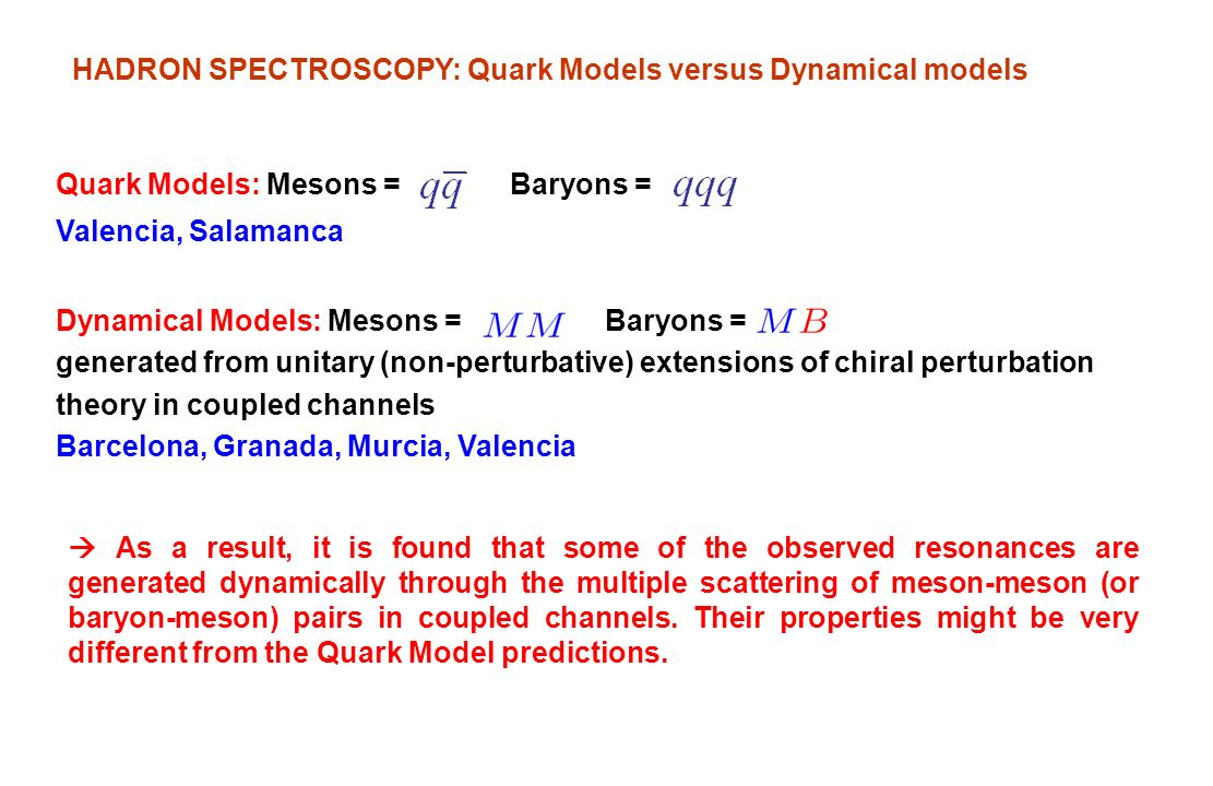 HADRON SPECTROSCOPY: Quark Models versus Dynamical models