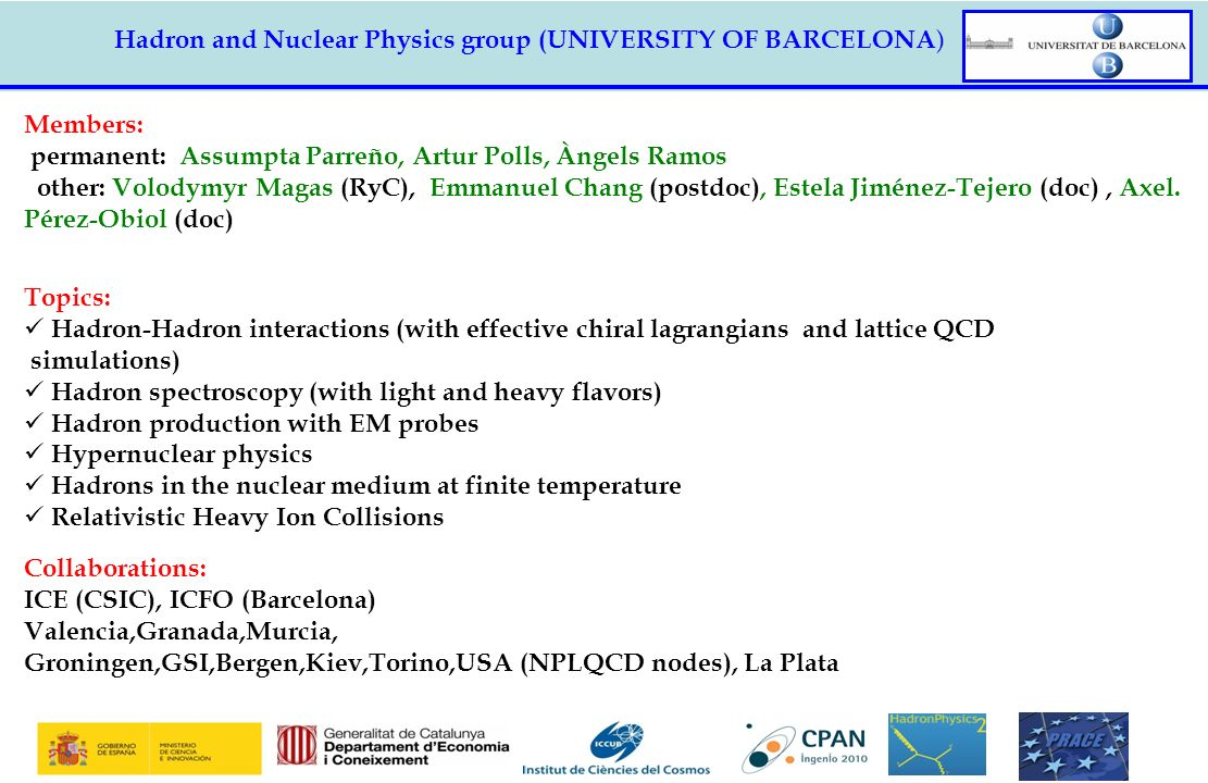 Hadron and Nuclear Physics group (UNIVERSITY OF BARCELONA)