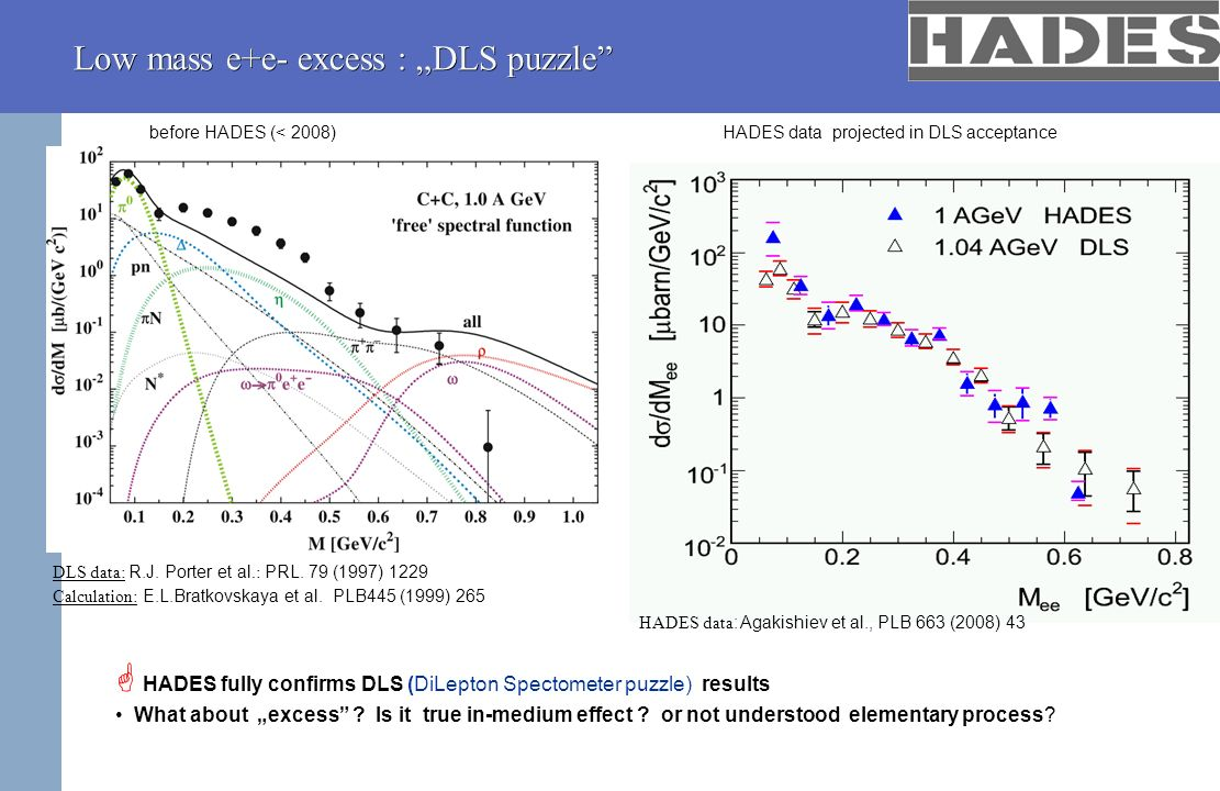 "Low mass e+e- excess : ""DLS puzzle"