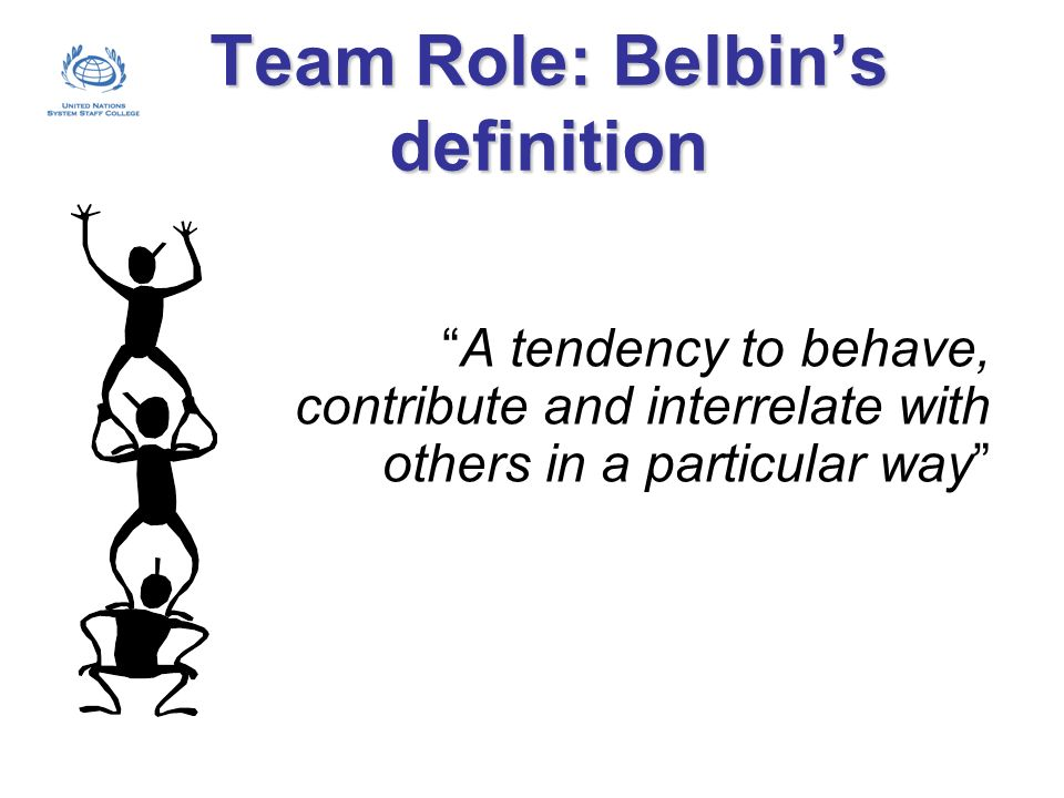 Team Role: Belbin's definition