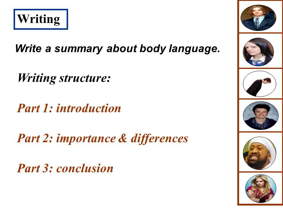 Part 2: importance & differences Part 3: conclusion