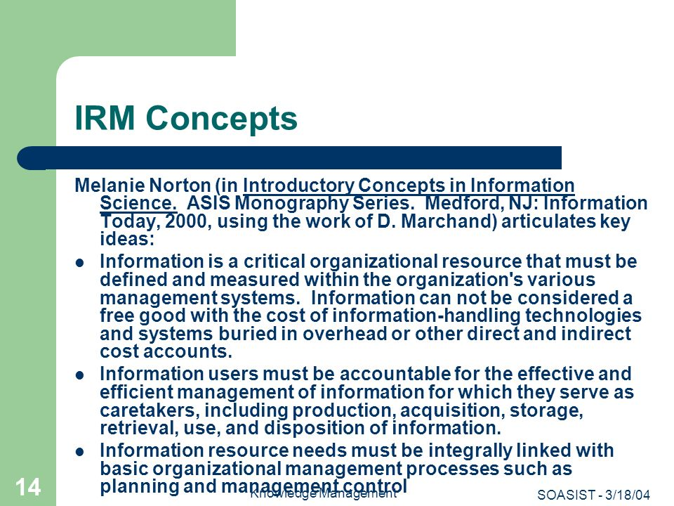 IRM Concepts