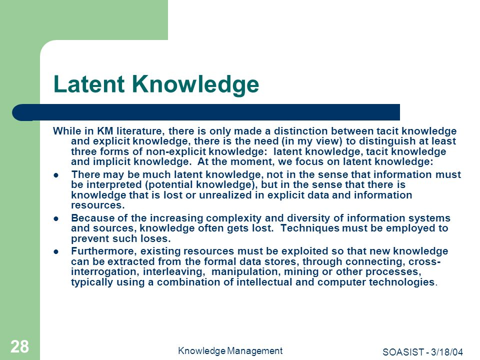 Latent Knowledge