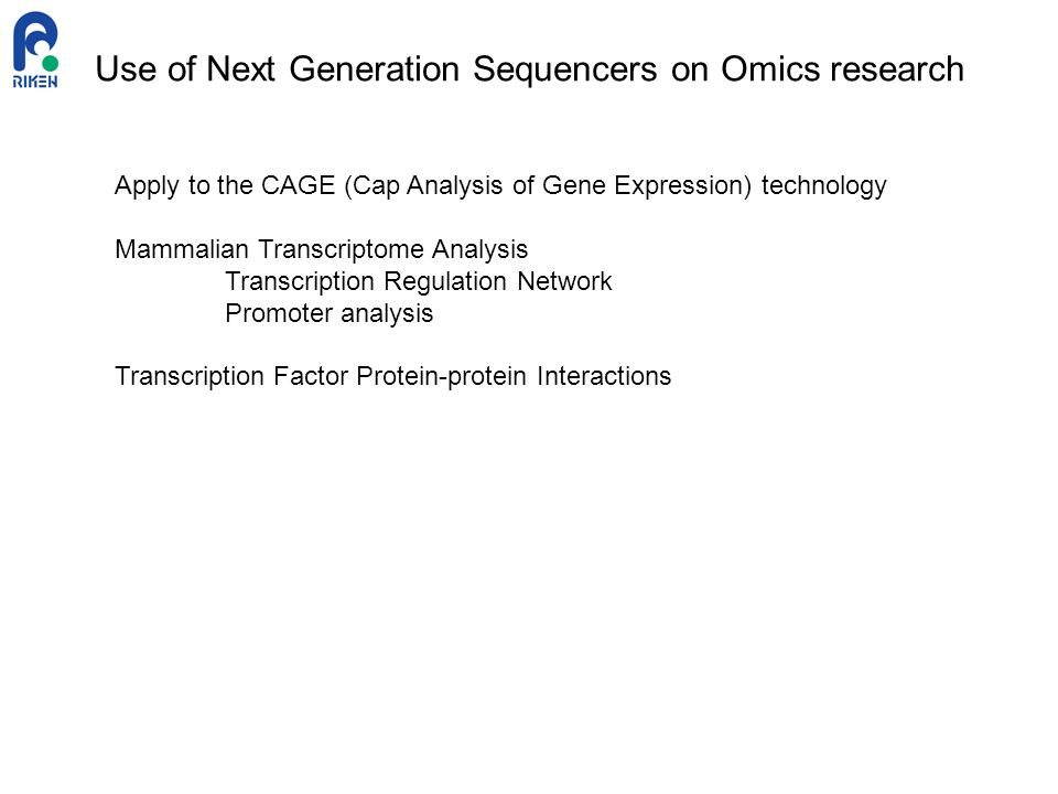 Use of Next Generation Sequencers on Omics research