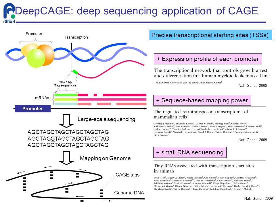 DeepCAGE: deep sequencing application of CAGE