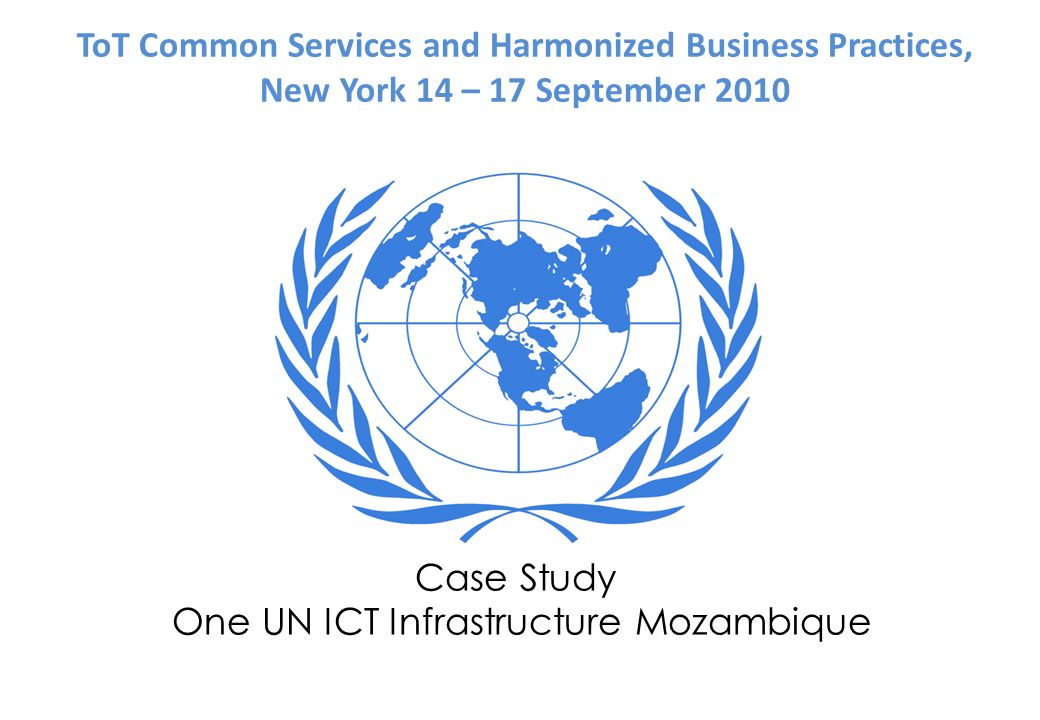 One UN ICT Infrastructure Mozambique