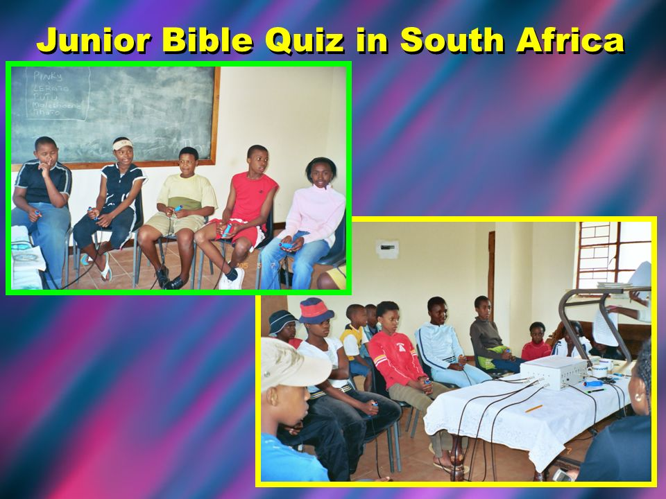 Junior Bible Quiz in South Africa