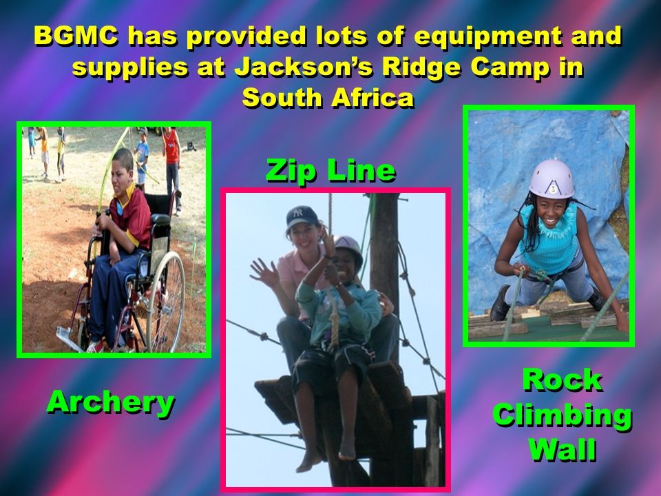 Zip Line Rock Climbing Wall Archery
