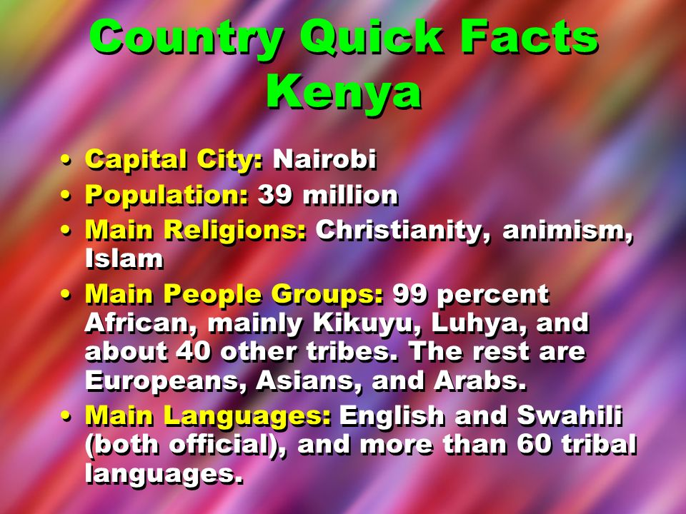 Country Quick Facts Kenya