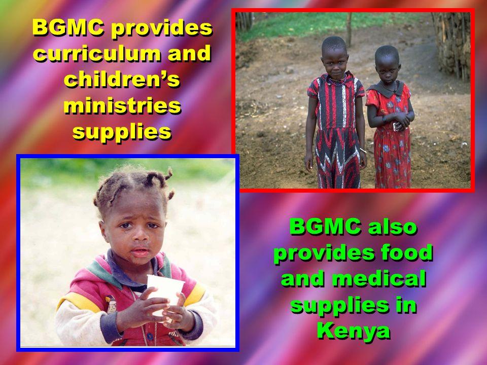 BGMC provides curriculum and children's ministries supplies