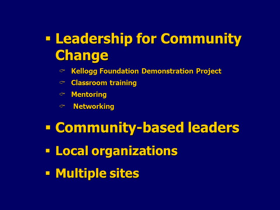 Leadership for Community Change
