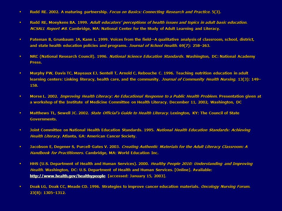 Rudd RE. 2002. A maturing partnership