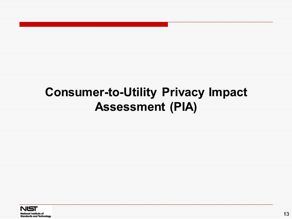 Consumer-to-Utility Privacy Impact Assessment (PIA)
