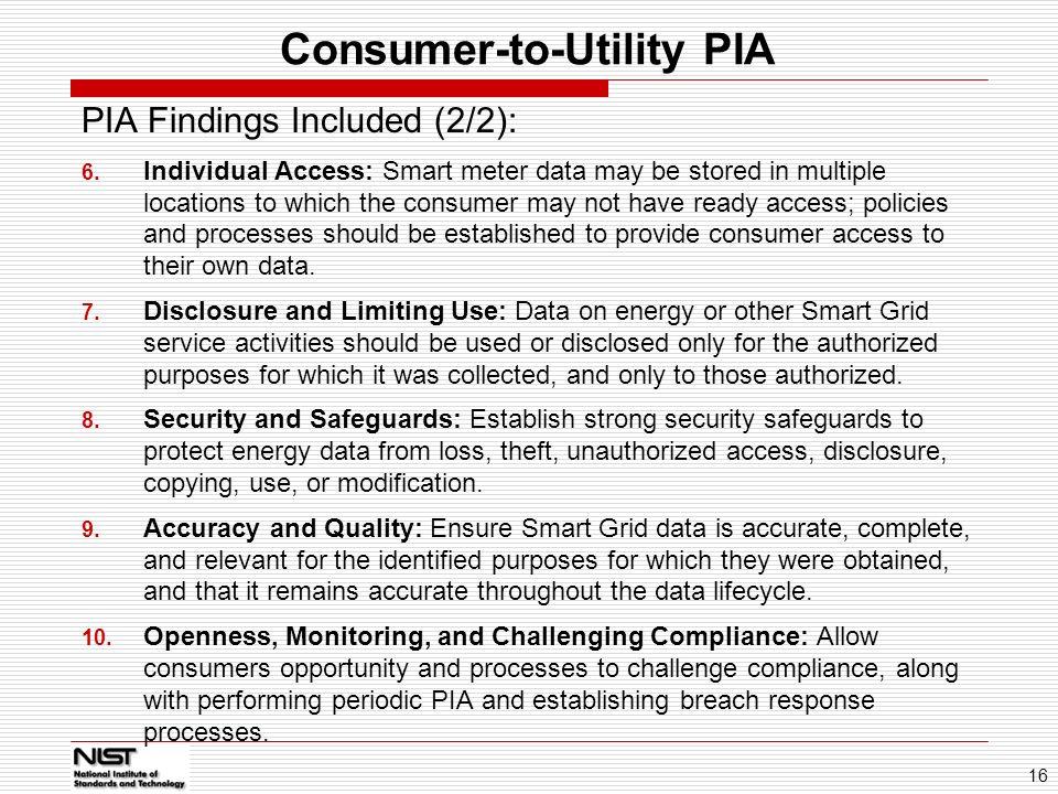 Consumer-to-Utility PIA