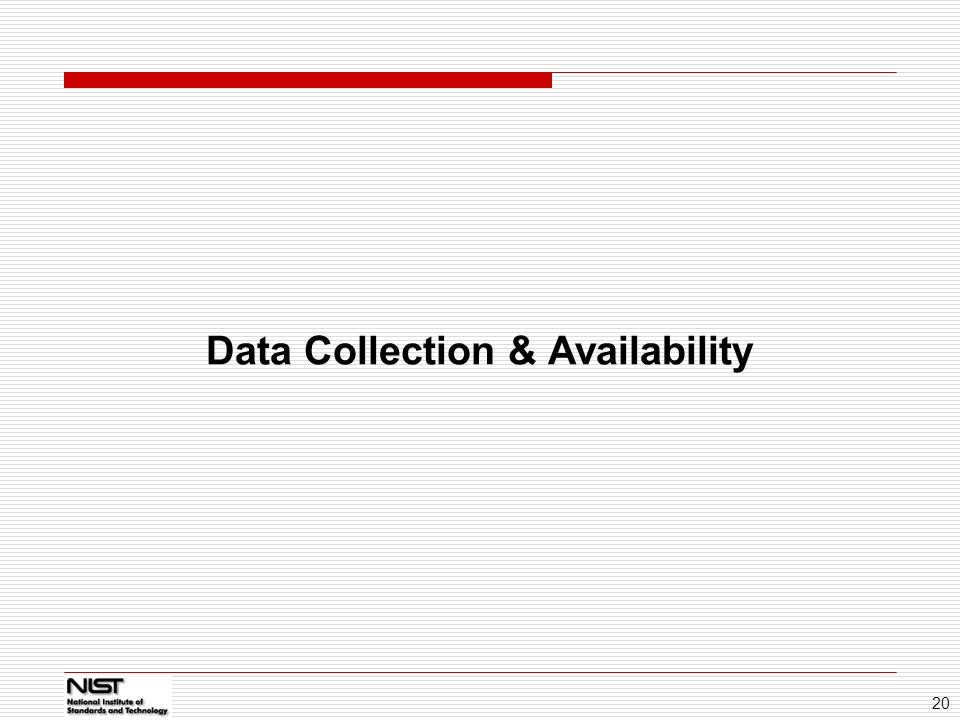 Data Collection & Availability