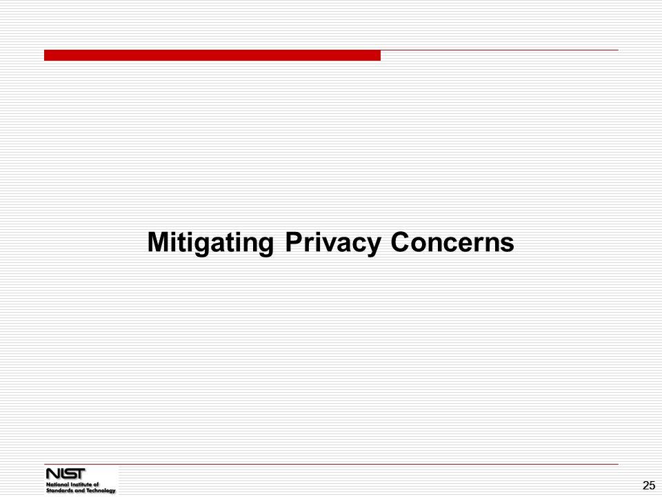 Mitigating Privacy Concerns