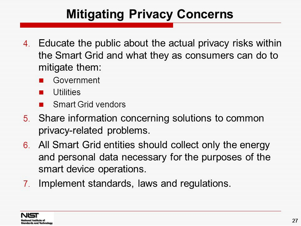 Mitigating Privacy Concerns