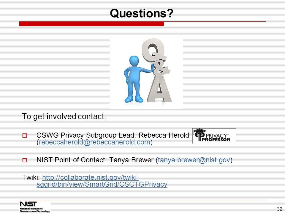Questions To get involved contact: