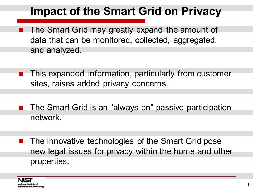 Impact of the Smart Grid on Privacy