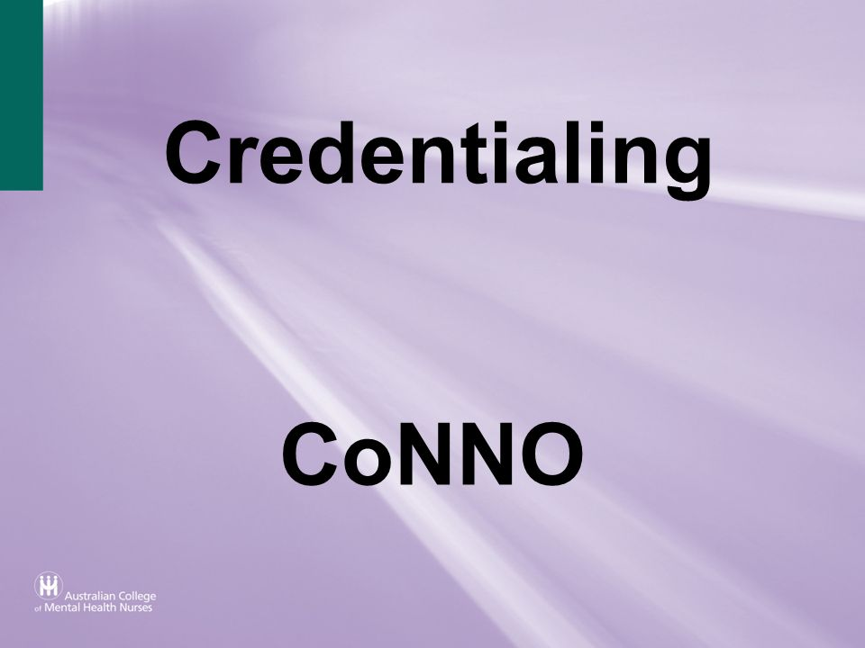 Credentialing CoNNO