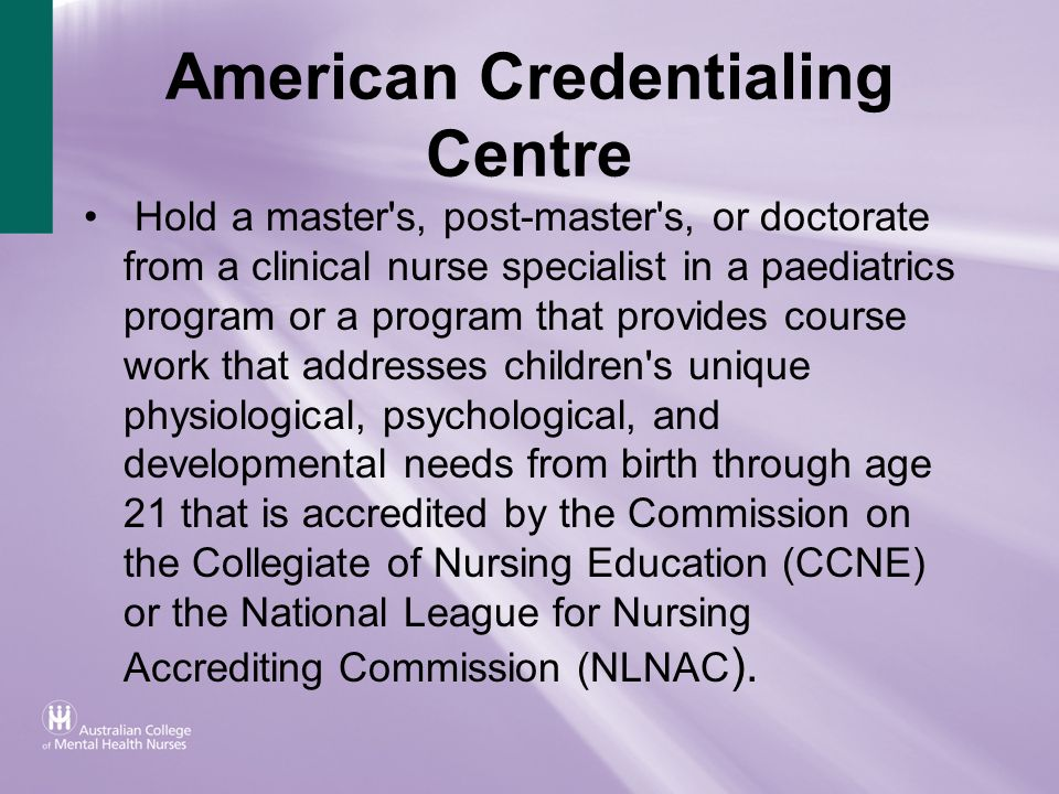 American Credentialing Centre