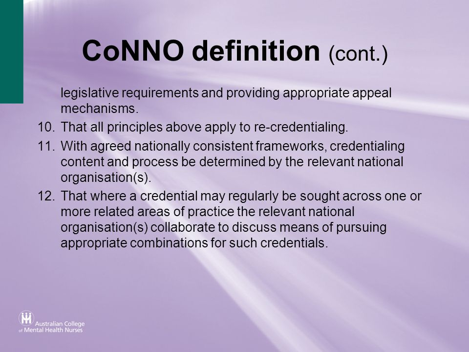 CoNNO definition (cont.)