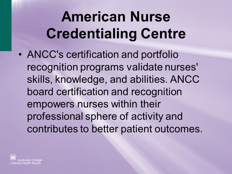 American Nurse Credentialing Centre