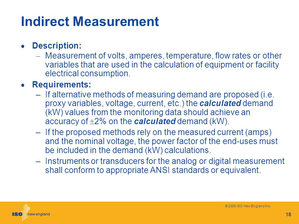 Indirect Measurement Description: