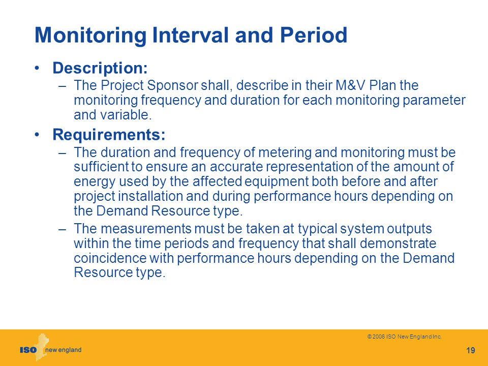 Monitoring Interval and Period