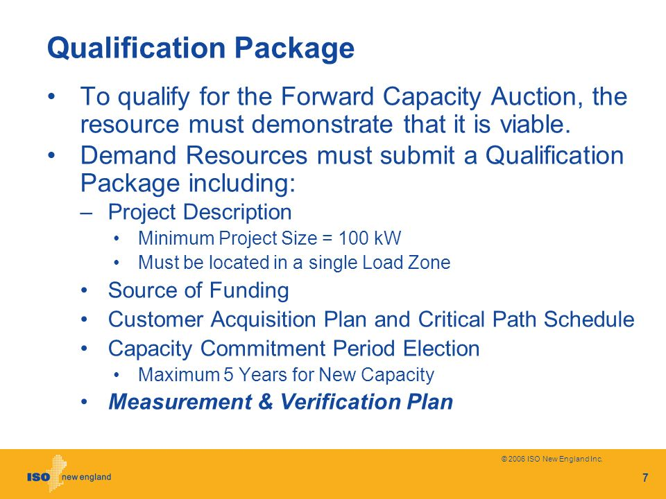 Qualification Package