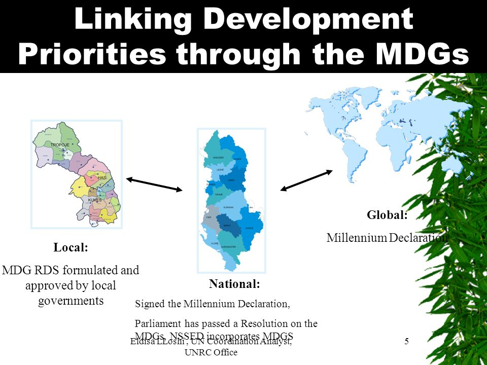 Linking Development Priorities through the MDGs