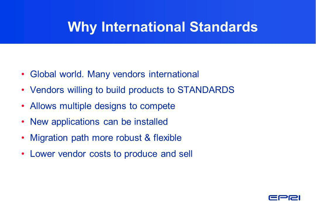 Why International Standards
