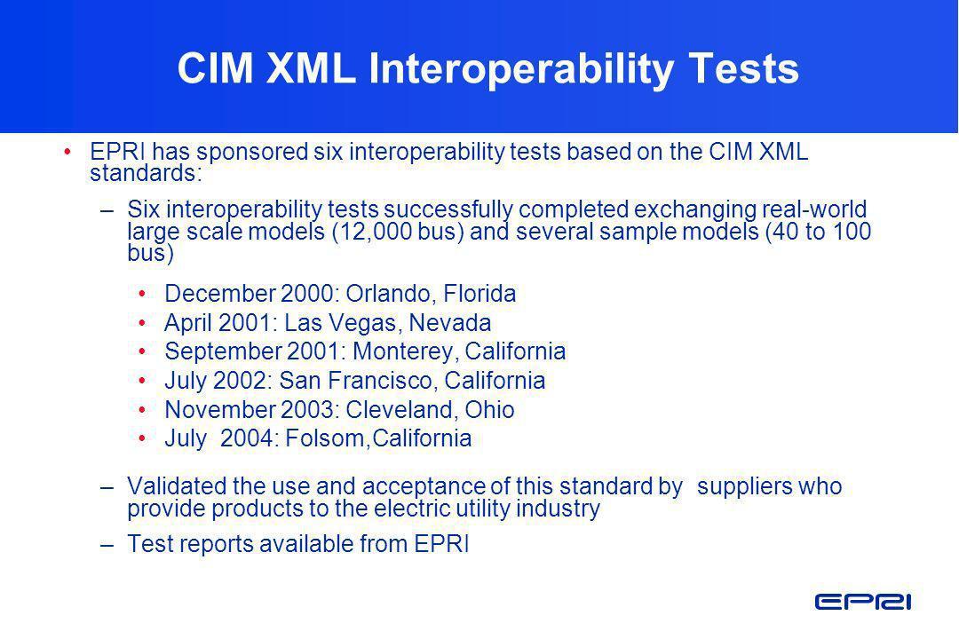 CIM XML Interoperability Tests
