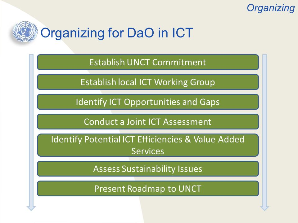 Organizing for DaO in ICT