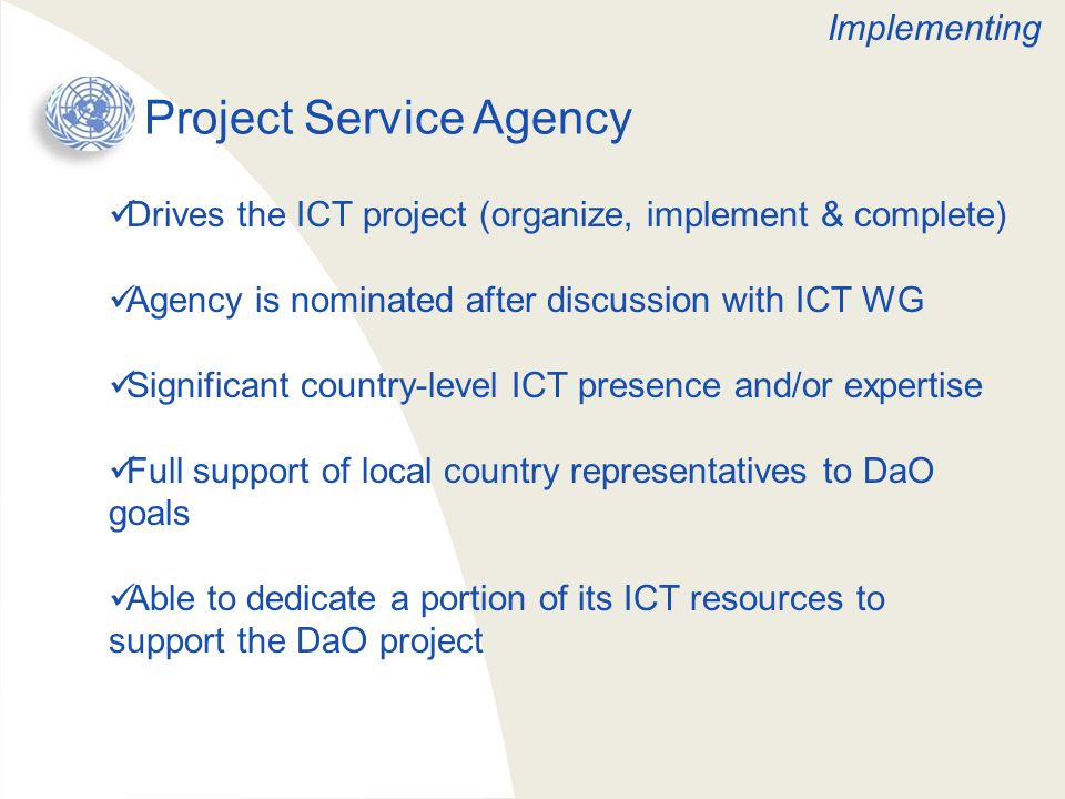 Project Service Agency