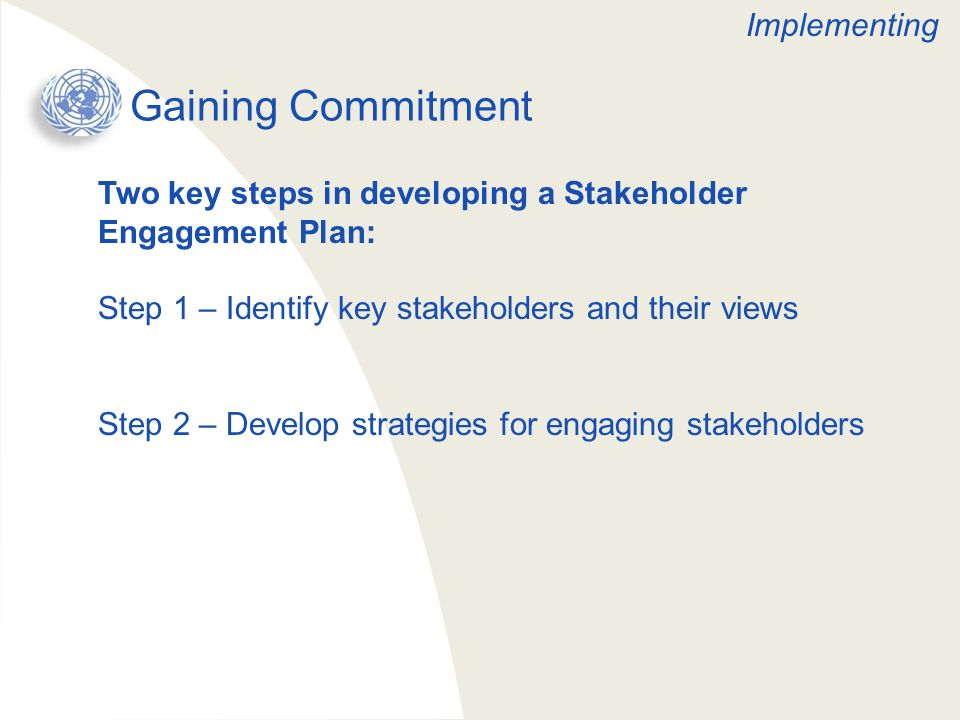 Gaining Commitment Implementing