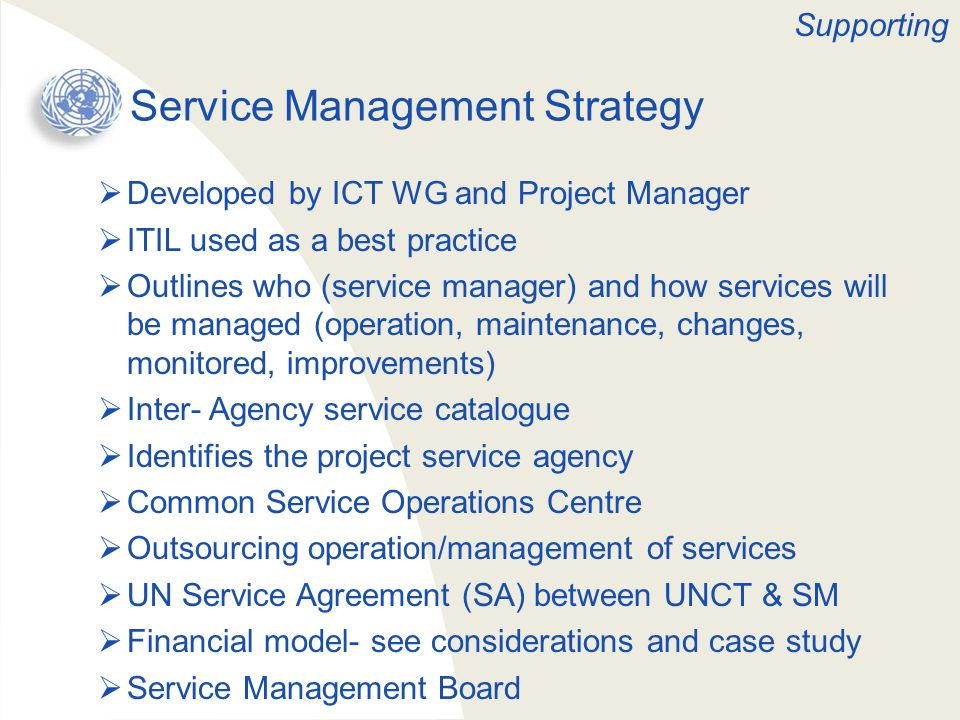 Service Management Strategy