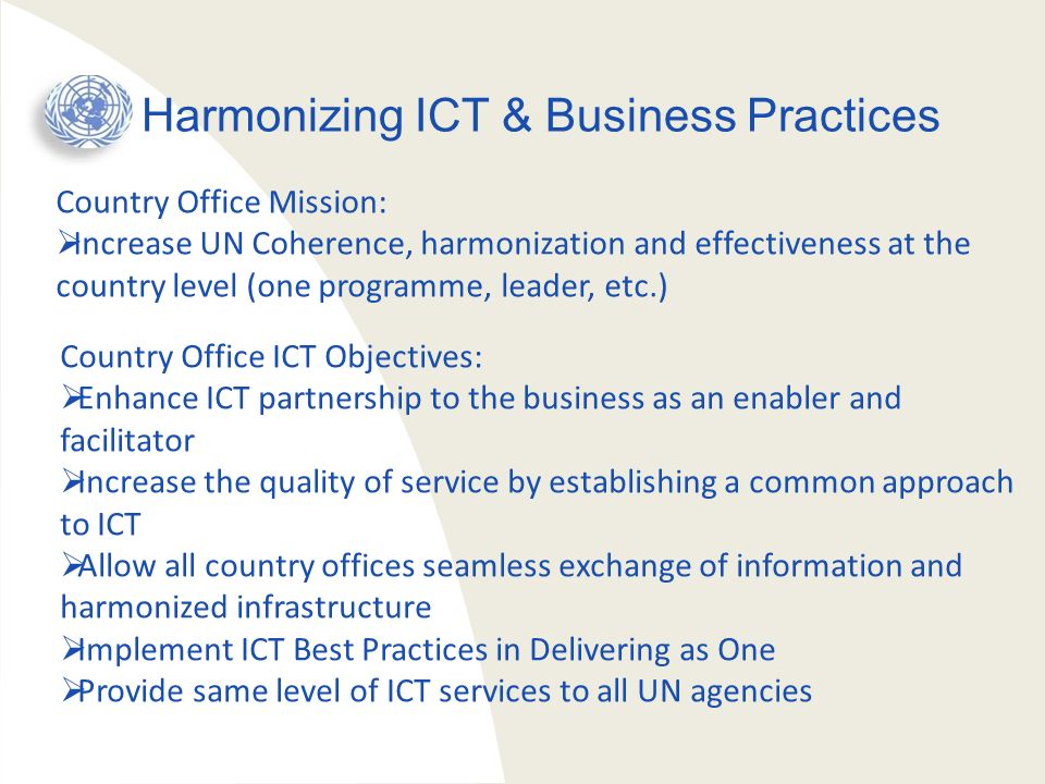 Harmonizing ICT & Business Practices