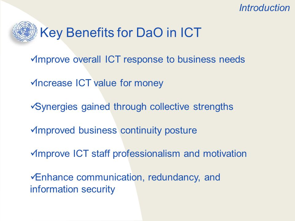 Key Benefits for DaO in ICT