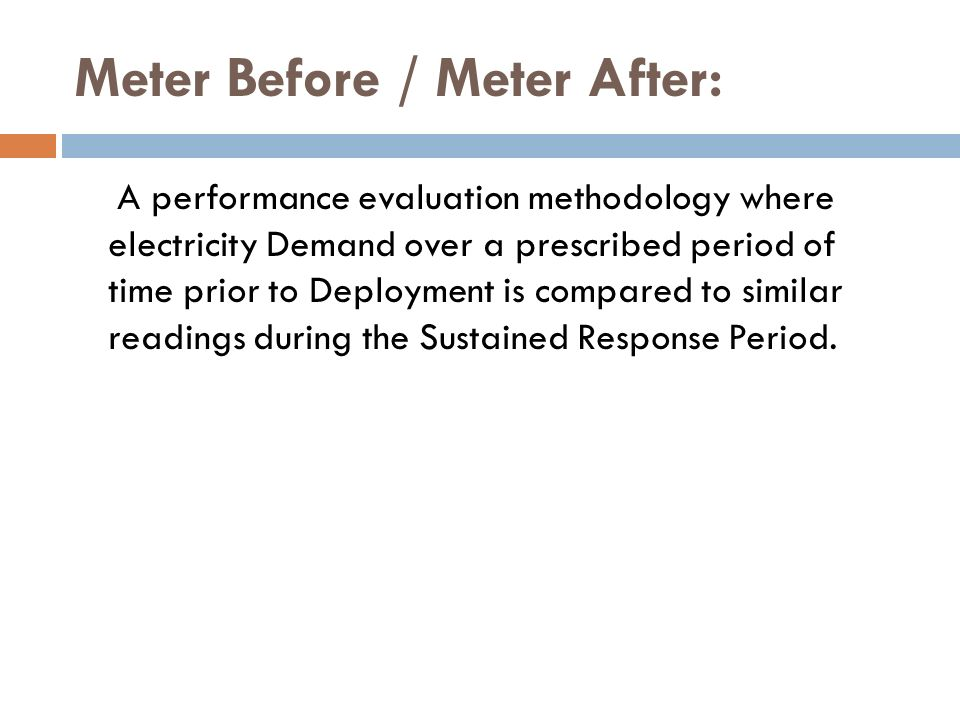 Meter Before / Meter After:
