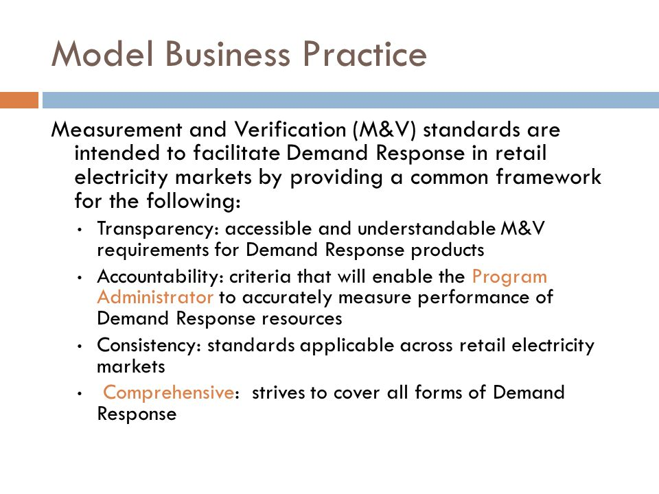 Model Business Practice