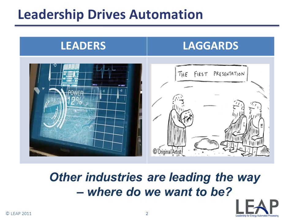Leadership Drives Automation