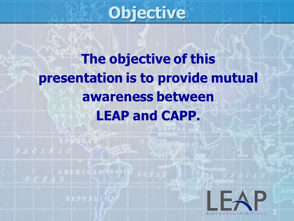 presentation is to provide mutual