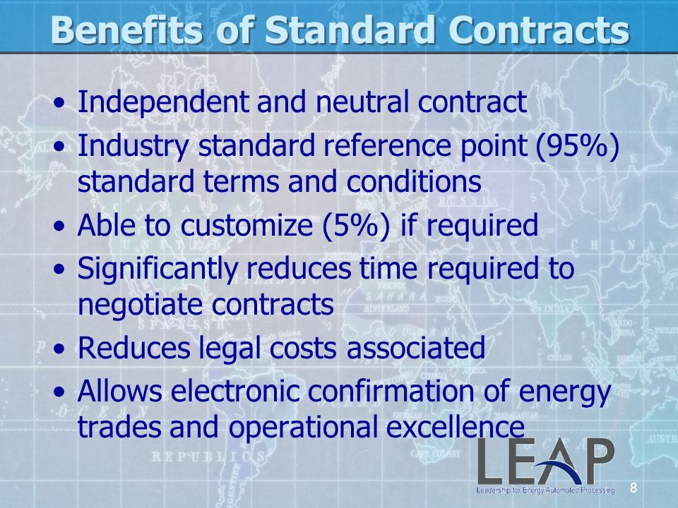 Benefits of Standard Contracts