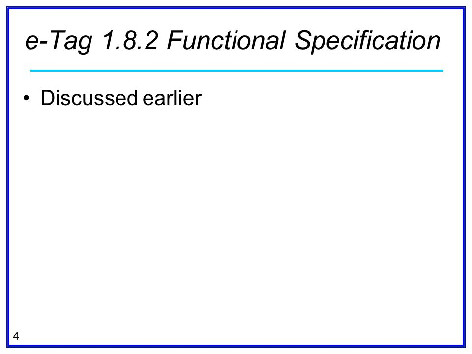 e-Tag 1.8.2 Functional Specification