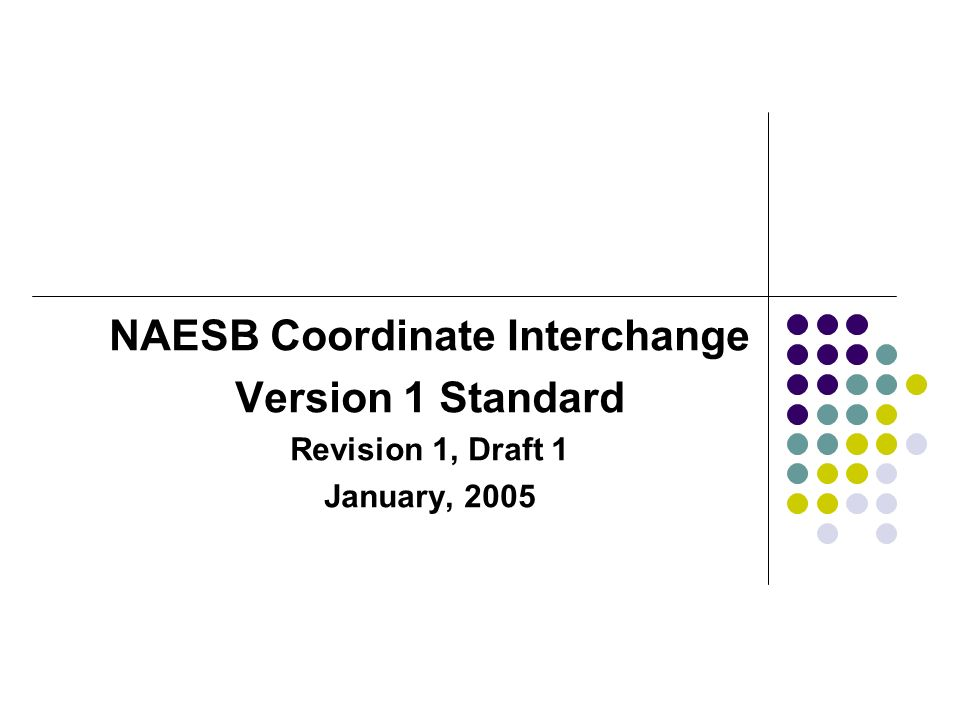 NAESB Coordinate Interchange
