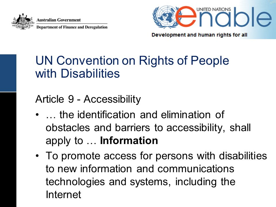 UN Convention on Rights of People with Disabilities