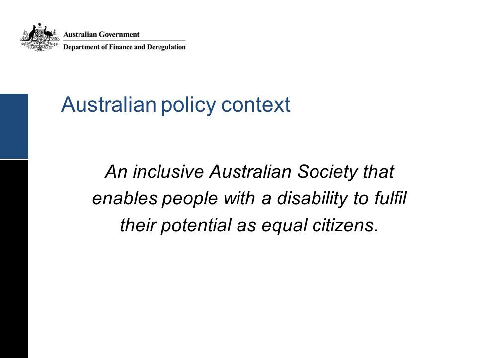 Australian policy context