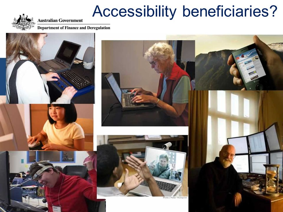 Accessibility beneficiaries